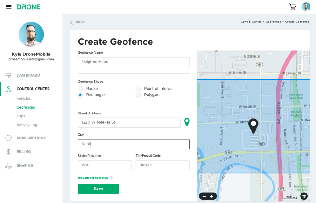 How to Create a Geofence Through Your DroneMobile Account