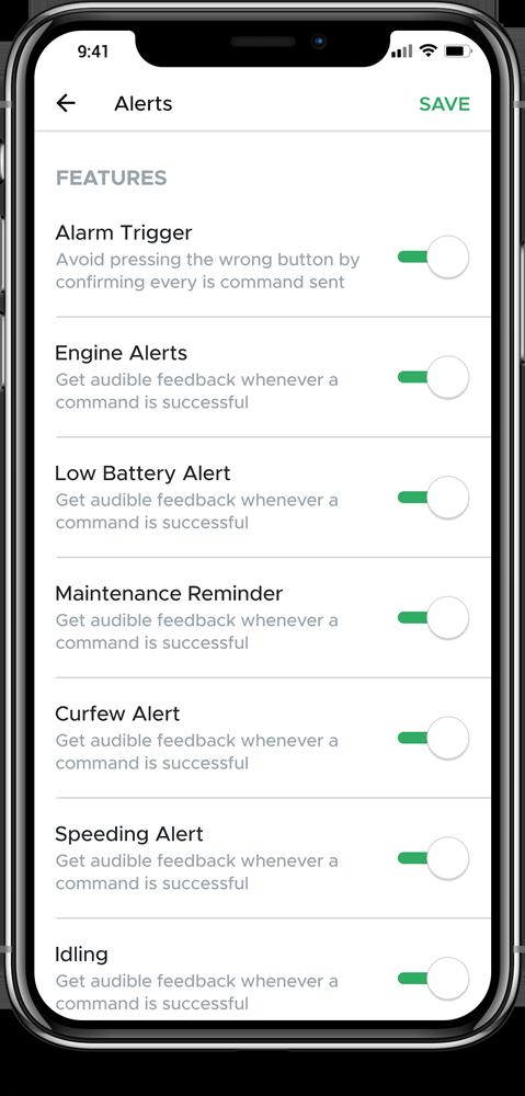 Set custom alerts
